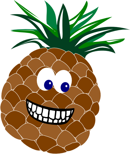 Small pineapple smile clipart svg transparent download Pineapple With Face Clip Art at Clker.com - vector clip art ... svg transparent download