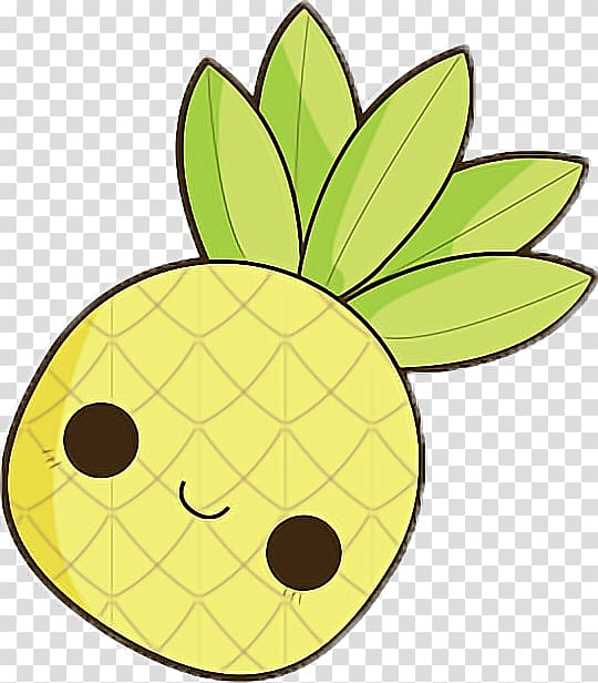 Small pineapple smile clipart vector black and white library Pineapple Drawing Kawaii Tropical fruit, pineapple ... vector black and white library