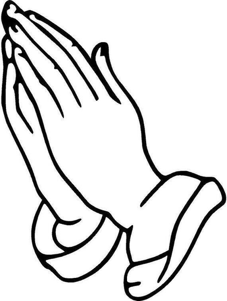Small praying hands clipart clip free Black And White Praying Hands Clipart | Free Images at Clker ... clip free