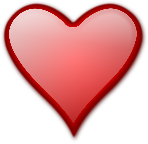 Small red heart clipart png royalty free library Shiny Red Heart Clip Art at Clker.com - vector clip art online ... png royalty free library