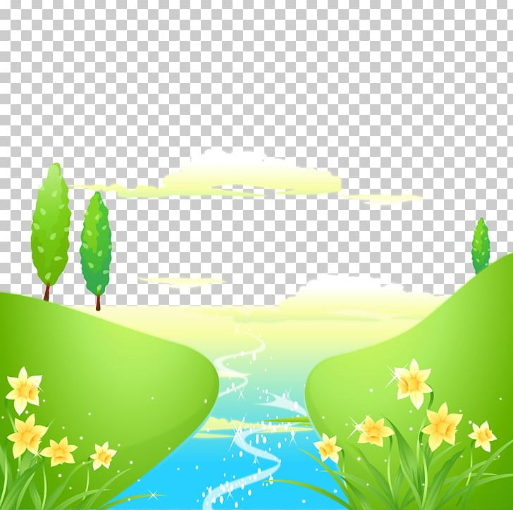 Small river clipart vector freeuse stock Spring Small River Flowers PNG, Clipart, Cartoon, Cartoon ... vector freeuse stock