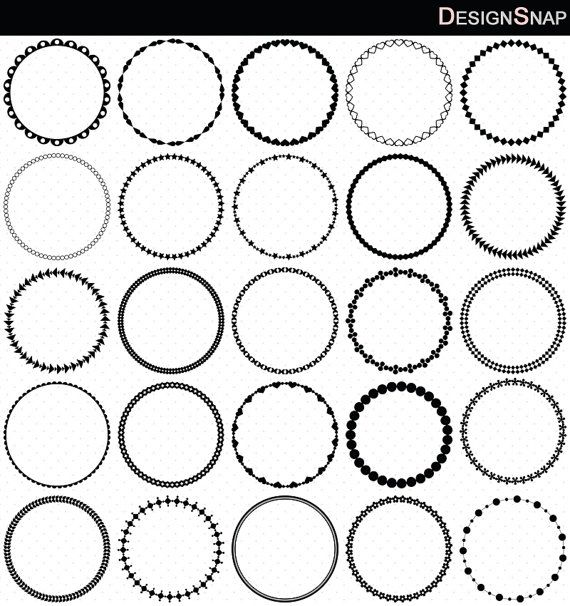 Small round frame clipart image stock Circle Frames Clip Art, Round Frame Clip Art, Digital ... image stock