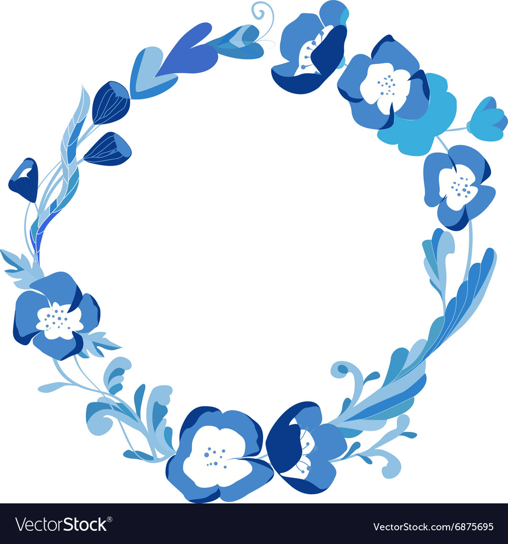 Small round frame clipart jpg free Small blossom flower circle frame jpg free