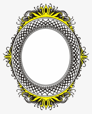 Small round frame clipart png black and white Round Frame PNG Images | PNG Cliparts Free Download on SeekPNG png black and white