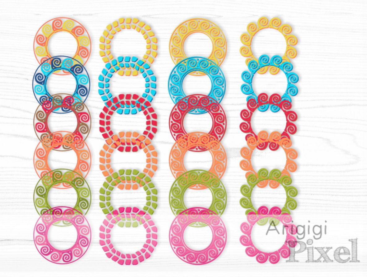 Small round frame clipart graphic library stock frame clipart set, summer circle clip art, round frames ... graphic library stock