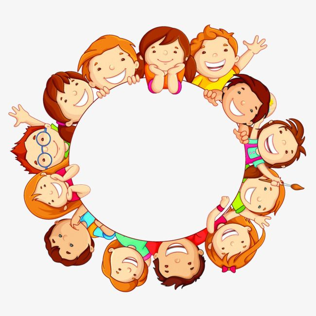 Small round frame clipart graphic royalty free library Small Partners Circular Border, Children, Round, Frame PNG ... graphic royalty free library