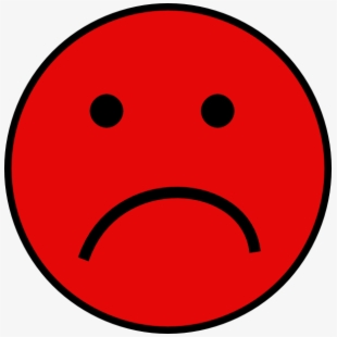 Small sad face clipart clip freeuse download Red Sad Face Clip Art - Red Sad Smiley Face #302062 - Free ... clip freeuse download