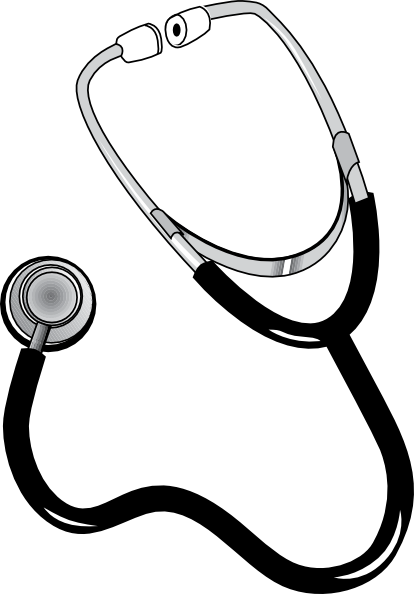 Small stethoscope clipart image black and white Free collection of Stethoscope clipart small. Download ... image black and white