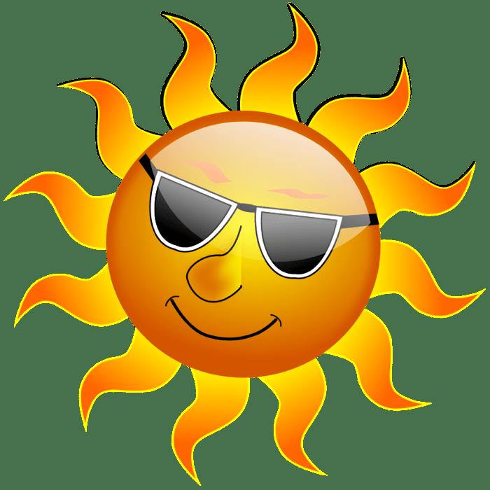 Small sun clipart graphic black and white Free Sun Clip Art to Brighten Your Day graphic black and white