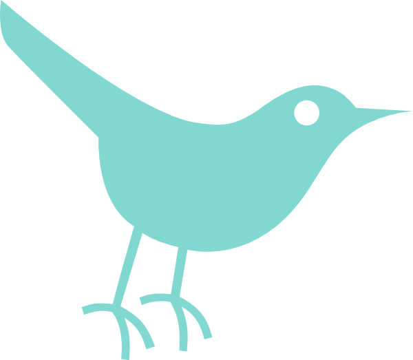 Small twitter clipart jpg black and white stock Robins Egg Twitter Bird Clip Art at Clker.com - vector clip art ... jpg black and white stock