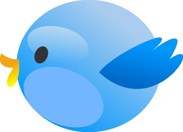 Small twitter clipart freeuse Twitter Fat Bird Clip Art at Clker.com - vector clip art online ... freeuse