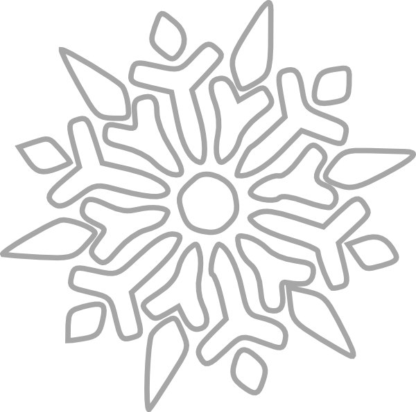 White snowflake clipart vector black and white library White Snowflake Clip Art at Clker.com - vector clip art online ... vector black and white library