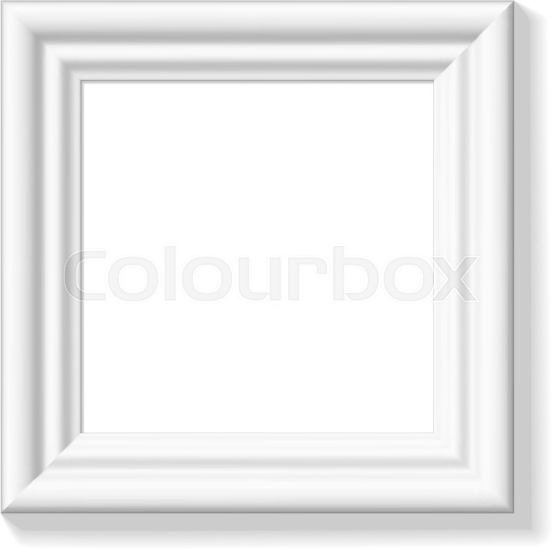 Small white square clipart vector stock White square picture frame. Wide frame ... | Stock vector ... vector stock