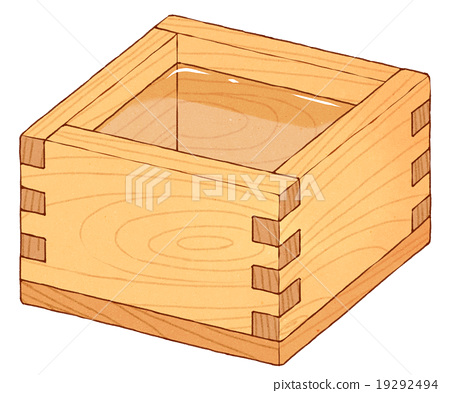 Small wood box clipart jpg library library Rice wine - Stock Illustration [19292494] - PIXTA jpg library library