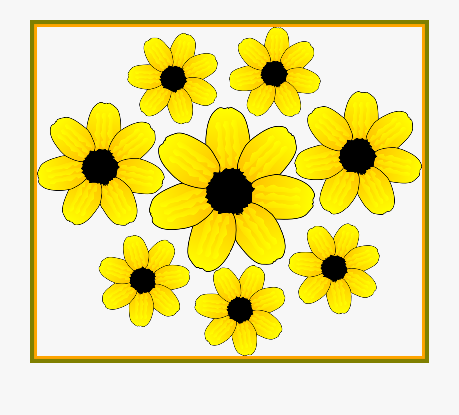 Small yellow flowers clipart clipart free library Unbelievable Flower Clipart Accents Graphics The Pict ... clipart free library