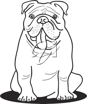 Smart bulldogs clipart png black and white download Royalty Free Clipart Image of a Bulldog | School Stuff | Dog ... png black and white download