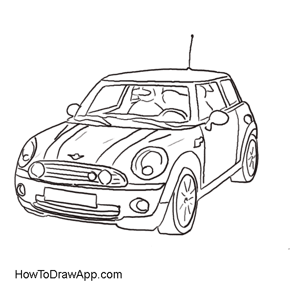 Smart car clipart clipart black and white download Smart Car Drawing at GetDrawings.com | Free for personal use Smart ... clipart black and white download