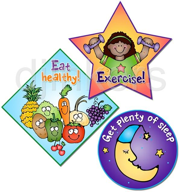 Healthy kids clipart clip art free stock Eat healthy, exercise, sleep, health clip art, health class ... clip art free stock