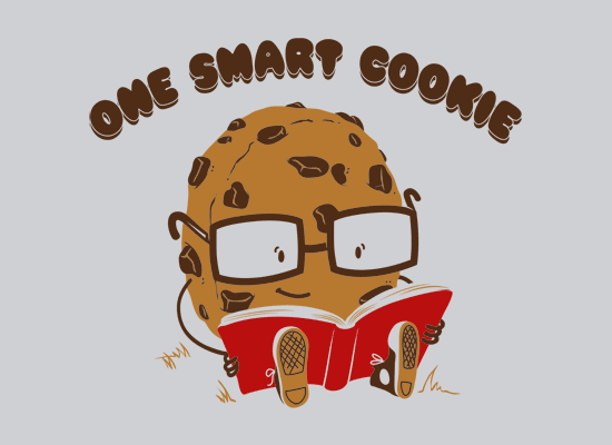 Smart cookie clipart free stock One Smart Cookie T-Shirt | SnorgTees free stock