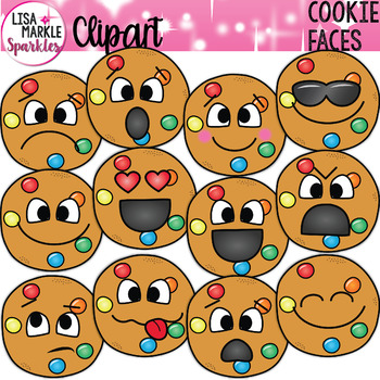 Smart cookie clipart banner freeuse library Smart Cookie Candy Clipart with Emoji Faces banner freeuse library