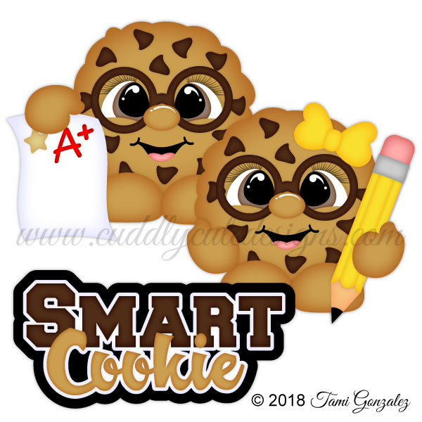 Smart cookie clipart vector library library Smart Cookie Cuties vector library library