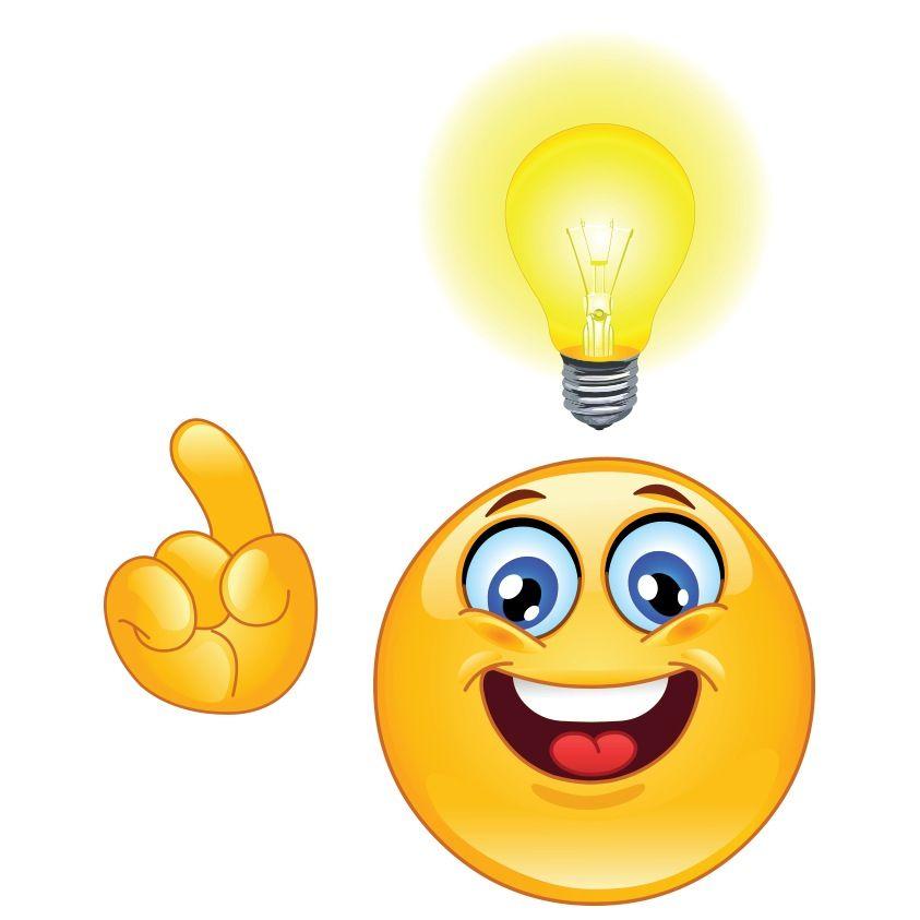 Smart emoji clipart black and white stock I HAVE BRIGHT IDEA. | I LOVE SMILEYS | Emoticon faces ... black and white stock
