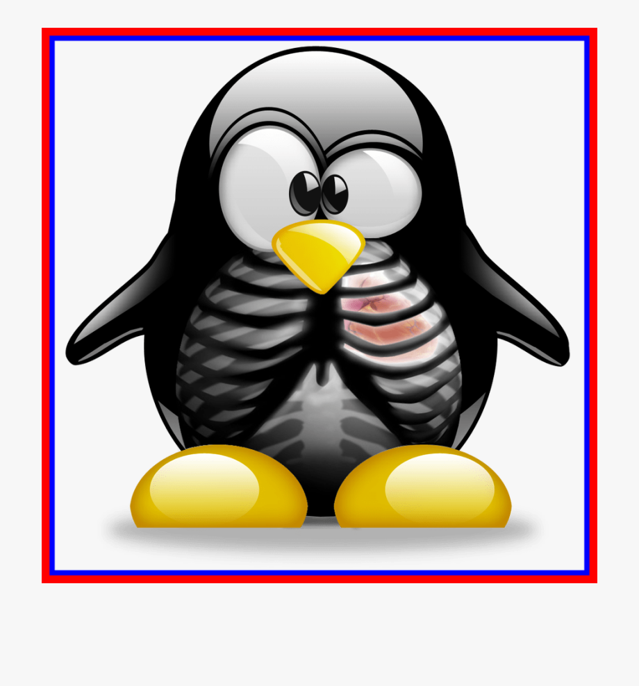 Smart penguin clipart svg black and white Penguin Clipart Penguin Family - Tux Linux Png #159190 ... svg black and white