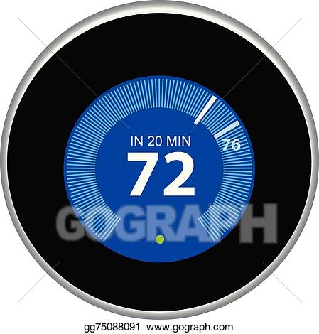 Smart thermostat clipart clip library Vector Stock - Nest thermostat blue. Stock Clip Art ... clip library