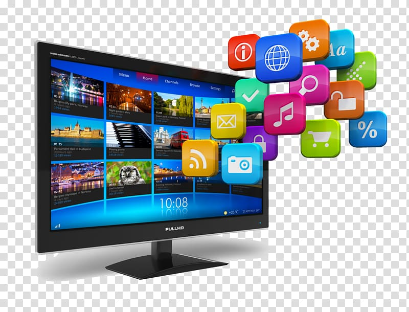 Smart tv icon clipart picture library Flat screen television and icons poster, Internet television ... picture library