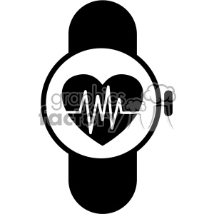 Smart watch clipart picture free stock smart watch ekg vector icon . Royalty-free icon # 403214 picture free stock