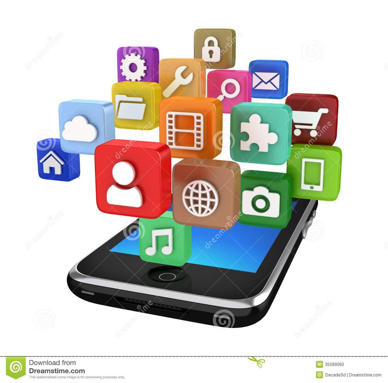 Smartphone app clipart banner royalty free download Smartphone App Icons - Isolated Stock Image - Image: 35099051 banner royalty free download