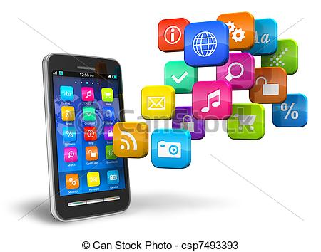 Smartphone app clipart png library Apps Stock Illustrations. 388,938 Apps clip art images and royalty ... png library