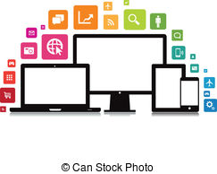 Smartphone app clipart image freeuse App Stock Illustrations. 389,197 App clip art images and royalty ... image freeuse