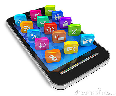 Smartphone app clipart picture library library Smartphone Apps Touchscreen Smartphone With Application Software ... picture library library