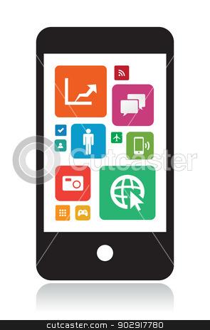 Smartphone app clipart transparent stock Smart Phone Technology App stock vector transparent stock