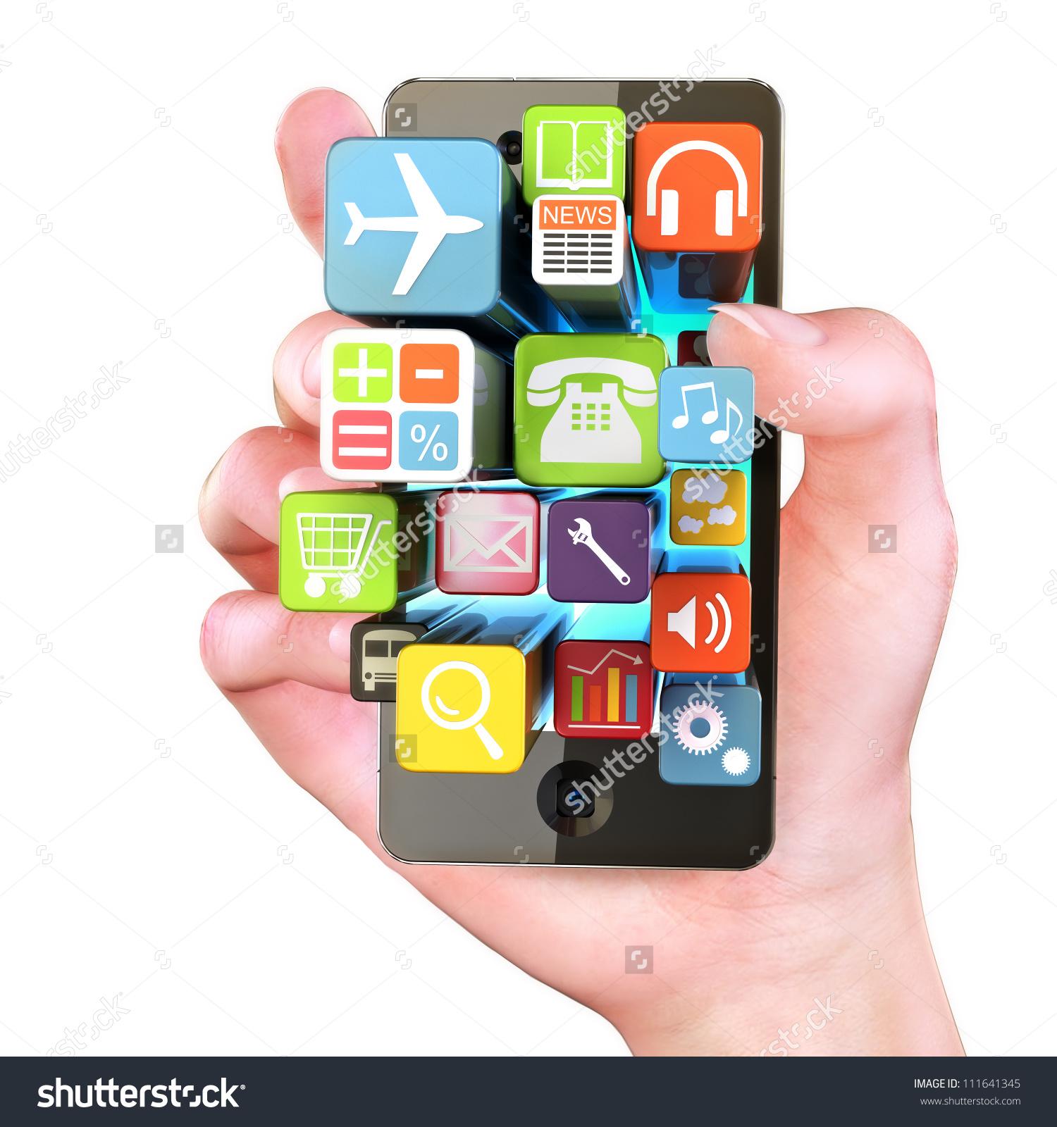 Smartphone app clipart jpg download Hand Holding Smartphone Appstouchscreen Smartphone Application ... jpg download