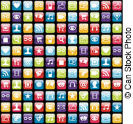 Smartphone app clipart jpg black and white download App Stock Illustrations. 389,197 App clip art images and royalty ... jpg black and white download