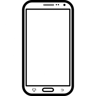 Smartphone clipart black and white black and white library Cell Phone Clipart Black And White | Free download best Cell ... black and white library