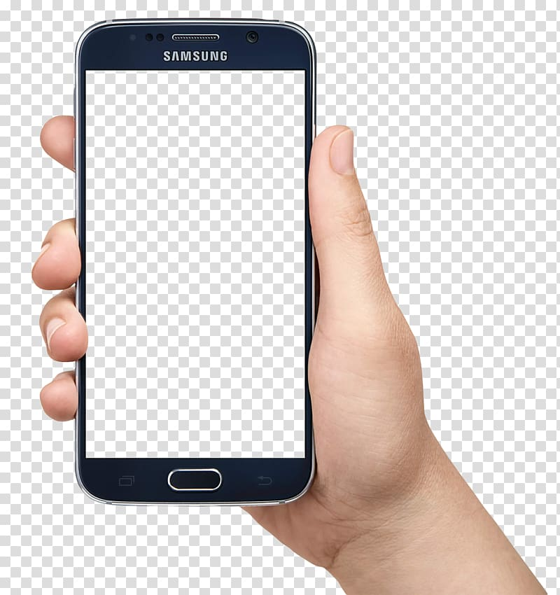Smartphone transparent clipart clip art freeuse IPhone 8 Smartphone Icon, Hand Holding Smartphone, person ... clip art freeuse