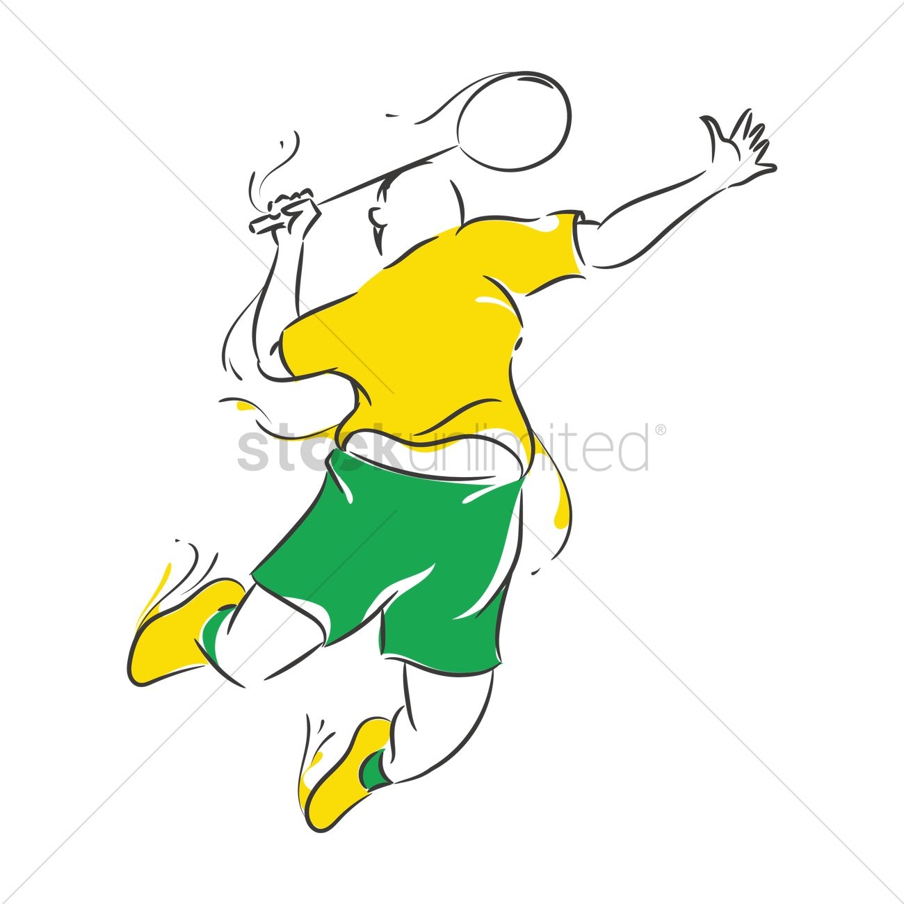 Smashed football player clipart freeuse Badminton smash clipart 6 » Clipart Station freeuse