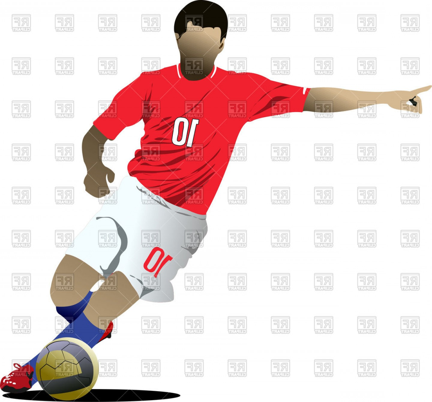 Smashed football player clipart clip art library download Soccer Player Vector Graphics | SarahGardan clip art library download