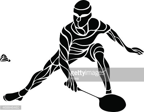 Smashed football player clipart svg free library Creative Silhouette of Professional Badminton Player Doing ... svg free library