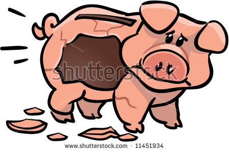 Smashed open piggy bank clipart picture transparent library Smashed open piggy bank clipart - ClipartFest picture transparent library