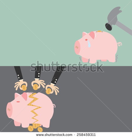Smashed open piggy bank clipart clipart freeuse download Break Piggy Bank Stock Photos, Royalty-Free Images & Vectors ... clipart freeuse download
