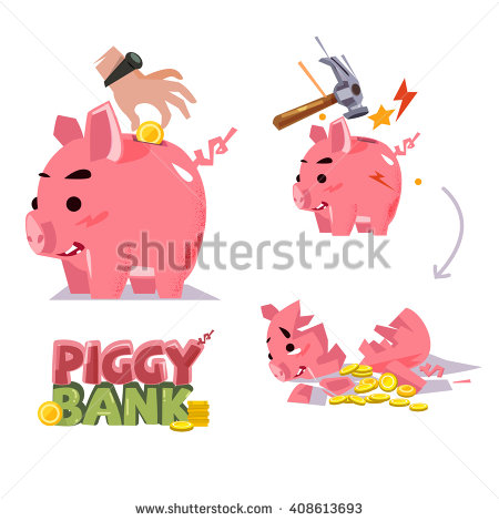 Smashed open piggy bank clipart image library stock Break Piggy Bank Stock Photos, Royalty-Free Images & Vectors ... image library stock