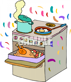 Smell dinner cooking clipart jpg Cooking Images Free | Clipart Picture of a Stove with ... jpg