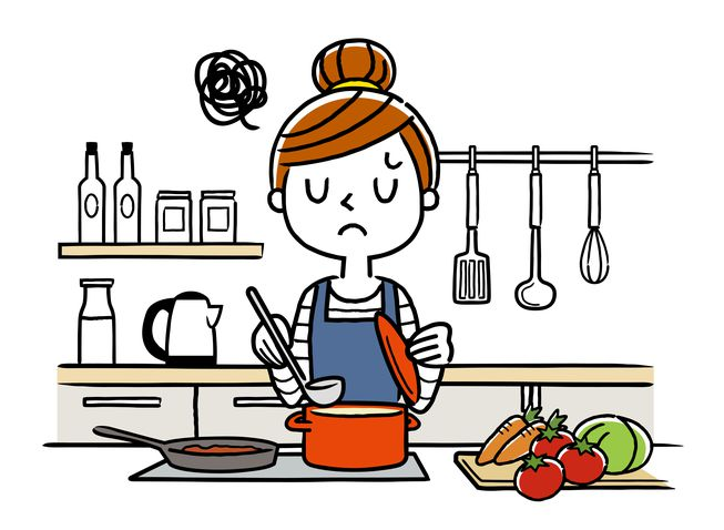 Smell dinner cooking clipart