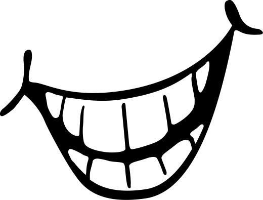 Smile getting bigger black and white clipart jpg library stock 94+ Big Smile Clipart | ClipartLook jpg library stock
