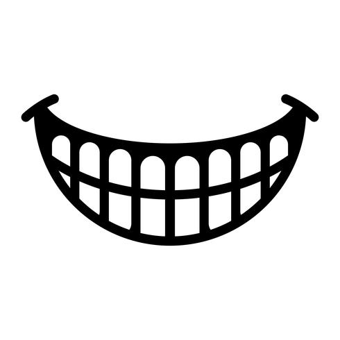 Smile getting bigger black and white clipart transparent library Big Happy Toothy Cartoon Smile vector icon - Download Free ... transparent library