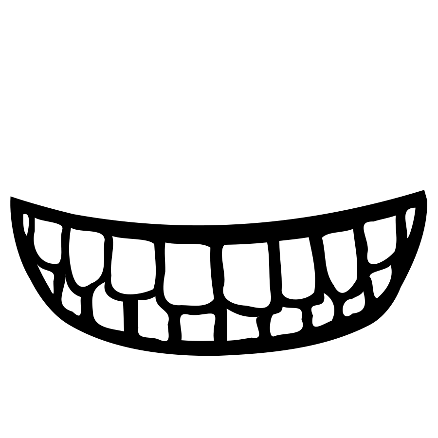 Smile getting bigger black and white clipart graphic download Clipart big smile teeth - Clip Art Library graphic download